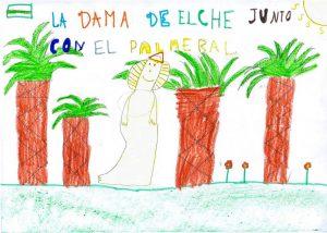 Los chicos y chicas de 4º B de la escuela Víctor Pradera de Elche escribieron una carta en el segundo taller del Cuenta Cartas con este dibujo