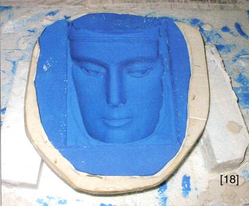 Molde de silicona de la cara. El proyecto Duple consiste en clonar la Dama de Elche mediante el digitalizado de toda su superficie a alta resolución para posteriormente
