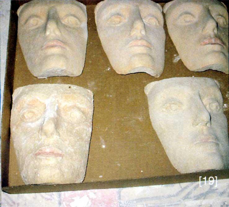 Primeras pruebas de la cara con diferentes materiales. El proyecto Duple consiste en clonar la Dama de Elche mediante el digitalizado de toda su superficie a alta resolución para posteriormente