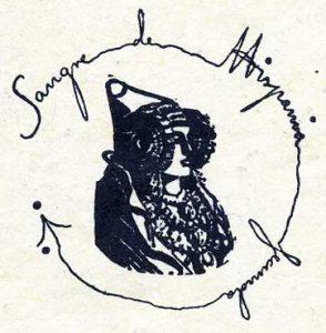 """Alrededor de la Dama de Elche aparece el lema del Instituto: """"Sangre de Hispania fecunda""""."""