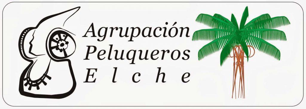 Dama estilizada y palmeras cuyas hojas son peines. Tomado de http://peluqueros-elche.blogspot.com.es/