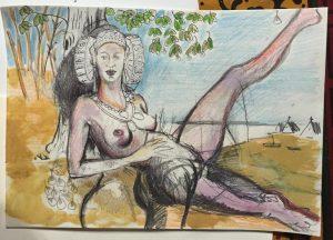 4035-La Dama del Cabanyal-boceto