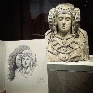 4071-Dibujo al natural de la _Dama de Elche_