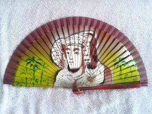 4088-Abanico Dama y palmeras