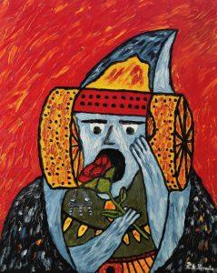 4365-Saatchi Art_ La Dama de Elche _La Emocion_ Painting by pedro antonio vicente torres