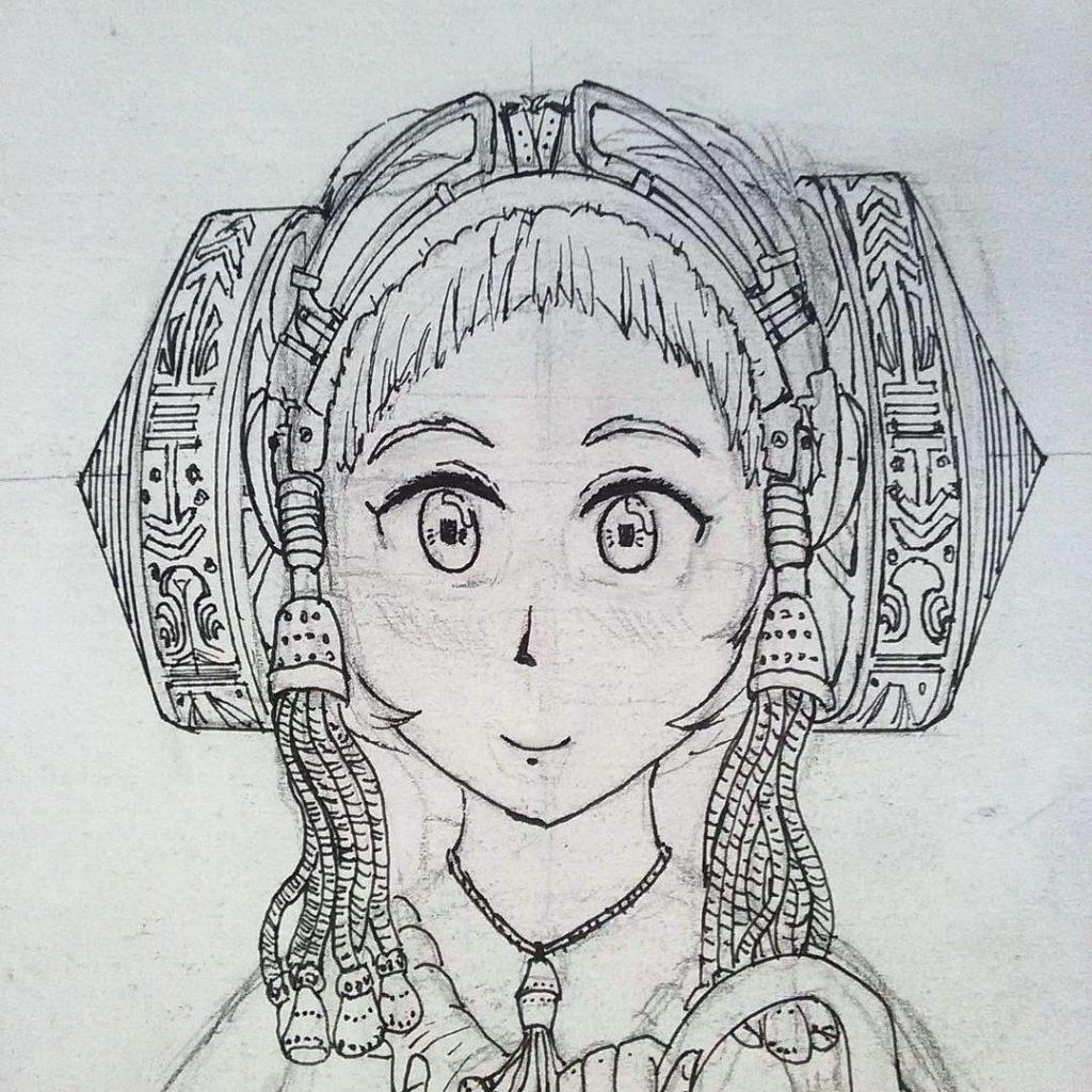 4411-Chica de vestido extraño-con el casco