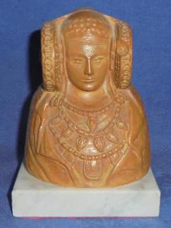 4449-dama de elche terracota y base marmol